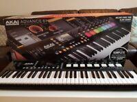 Akai Advance 61 Vip 3.1 midi controller keyboard, boxed like new