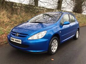 Mint 2005 Peugeot 307 1.4 X-Line Special Edition 5dr trade in considered, credit cards accepted