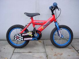 Kids Bike, by Silver Fox, Red & Blue, 14 inch Wheels for Kids 4 Years, JUST SERVICED / CHEAP PRICE!!