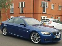 57 REG BMW 320D M SPORT COUPE - 150K - SUEDE - XENONS - PX WELCOME