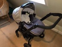 Jane Rider Baby Travel System with Matrix light 2 car seat (lie flat) & isofix base plus more.