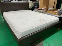 King leather bed and mattress