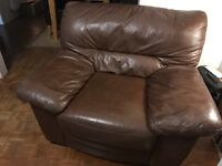 BARGAIN!!! 3 Seater Leather Sofa and matching Arm chair