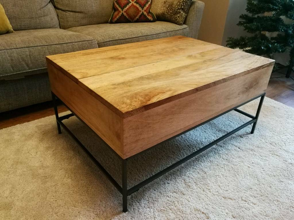 West Elm Industrial Storage Coffee Table In Luton Bedfordshire