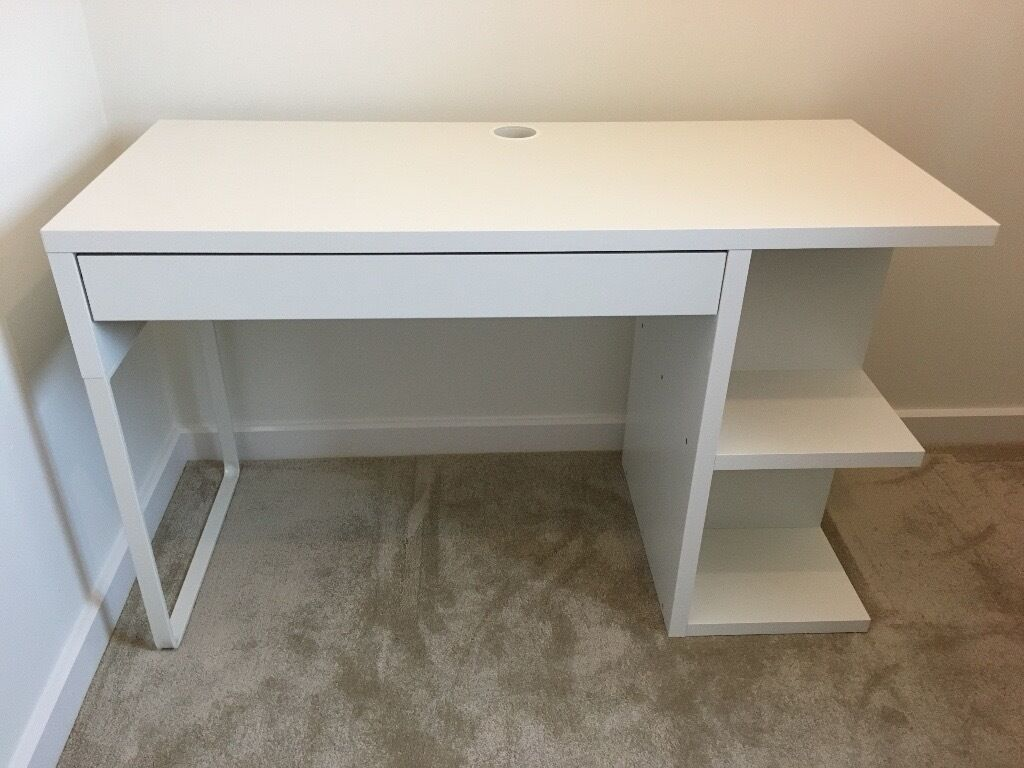 ikea micke desk white in wareham dorset gumtree. Black Bedroom Furniture Sets. Home Design Ideas