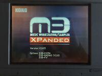 Korg M3-M Expanded. All options **RARE!** (Synth Workstation Sampler Sound Module)