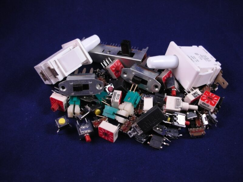(100+ pcs.)  Electrical Switch - Grab Bag, assorted styles and values