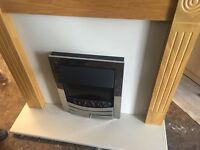 ELECTRIC FIRE WITH SURROUND WITH CHROME FINISH