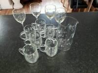 Cut glass set