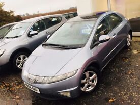 2008/08 Reg Honda Civic ES I-VTEC - 1 Private Owner - FHSH - 1 Years MOT - 81K Miles - Pan Roof -