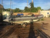 Avon searider 5.4M rib / inflatable boat with snipe trailer