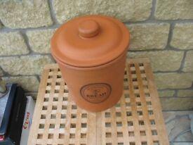 Terracotta bread bin