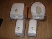 Brand New Kimberly Clark Professional Aqua Folded Hand Towel & 4 x Aquarius Toilet Tissue Dispensers