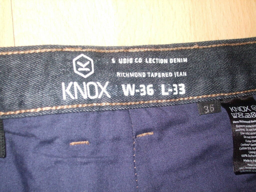 26d5f3a9 Knox Richmond motorcycle jeans. Blue. 36 waist. Like new! | in ...