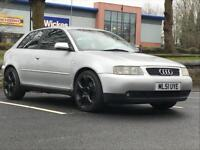 2001 (Oct 51) AUDI A3 1.8T SPORT - Hatchback 3 Doors - Manual - Petrol - SILVER *MOT/PX WELCOME/FSH