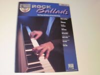 Rock Ballads Keyboard Music Book & CD