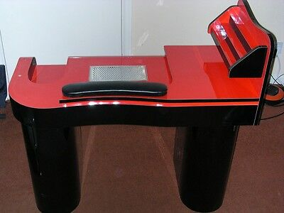 NEW MANICURE  NAILS TABLE JK RED  /BLACK  with attractor  low price