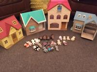 Sylvanian families houses and figures