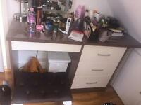Wardrobe, dressing table & 2x bedside cupboards
