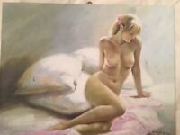 Female Nude - painting on canvas - 60cms x 50cms
