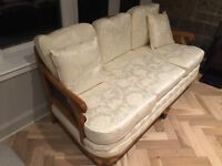 Bergere French style suite solid wood and excellent condition