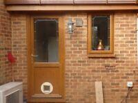 MID-BROWN UPVC DOUBLE GLAZED EXTERIOR DOORS