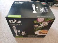 Brand new braun multiquick 3 hand blender MQ325 omelette