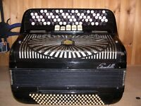 Scandalli 409, 4 Voice, Musette Tuned, 5 Row, C System, 120 Bass, Chromatic Accordion.