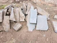 Blue slab stone about 3000kg