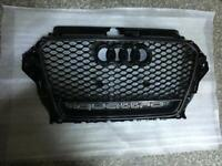 Audi A3 S3 RS3 HONEYCOMB CARBON RS STYLE GRILL FITS 2013-2015