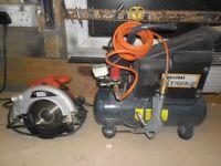 6 ltr air compressor & circular saw
