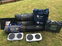 10 man meridian beyond tent, kalahari porch, 3inner carpets, 2cookers, fan heater, electric hook up