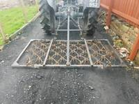 Tractor three point linkage 7ft grass harrows in great condition