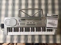 Mini Silver Electronic Keyboard