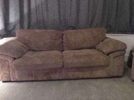 2 sofas for sale in good condition- 3 seater and 2 seater ( 2seater slight damage underneath)