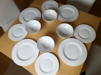 Villeroy and Boch Twist White Dinner Plate large x 4, small x 3, bowls x 4