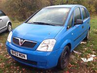 2003 Vauxhall Meriva 1.6 16v Life aruba blue y 20a 20u 24l BREAKING FOR SPARES