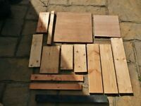14 Pieces of Wood Offcuts Pine Sawn Pine 2 Pieces Plywood