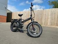 Electric Folding Mountain Bike eBike Fat Tyres 750W 48V16AH Suspension Unisex Bike Brand New