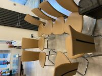 Glass square Dining table with 8 chairs