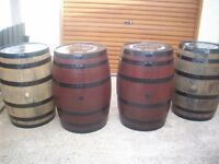 WHISKEY BARRELS FOR ALL LOCATIONS ANY COLOUR /CREST / LOGO