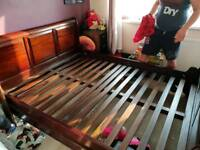 King Size solid wood bed frame