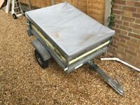Trailer 3' x 4' Franc Galvanised Trailer with Cover
