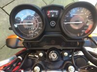 Yamaha YBR 125cc perfect condition. Fully mot for twelve months, no damage at all.