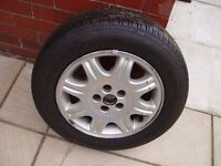 Dunlop Monza 200 195/65R15 91V Tyre for sale : never used so as-new condition + Rover 75 alloy hub