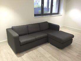 Excellent condition Habitat Grey L Shape Sofa/sofa bed