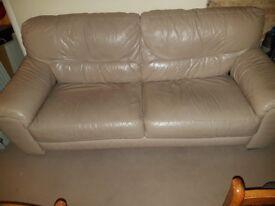 Leather Cream Sofa £70