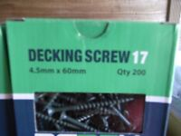 Decking screws 60mmx4.5mm 200qty