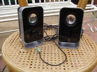 Pair Of Small Logitech Speakers