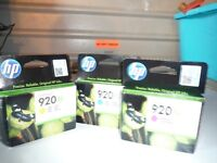 INK CARTRIDGES 3 HP 920XL (CD974AE) cartridges Yellow/ Cyan/ Magenta